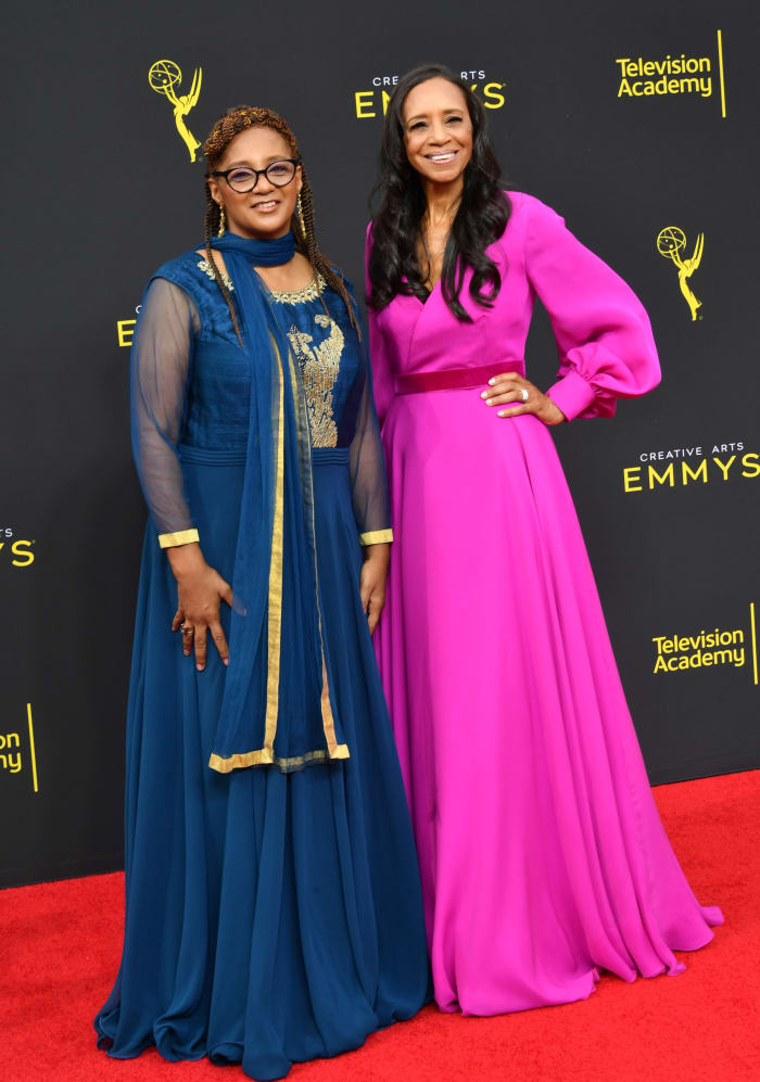'Black-ish' costume supervisor Devon Patterson and Cole at the 2019 Creative Arts Emmy Awards.