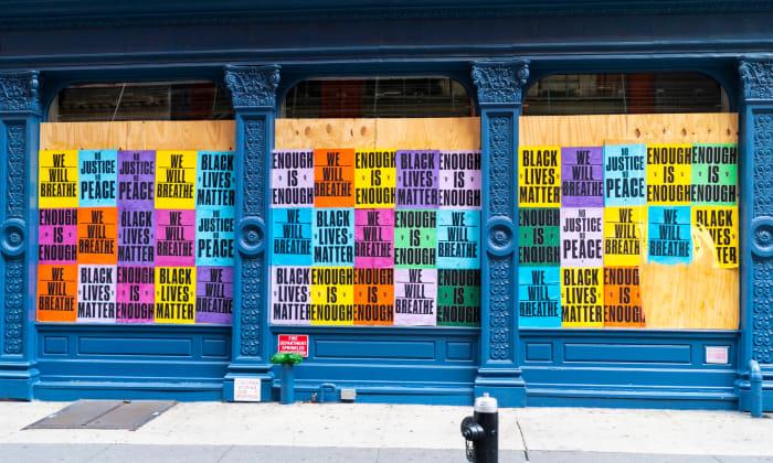 Soho Boarded Up Storefronts 2020