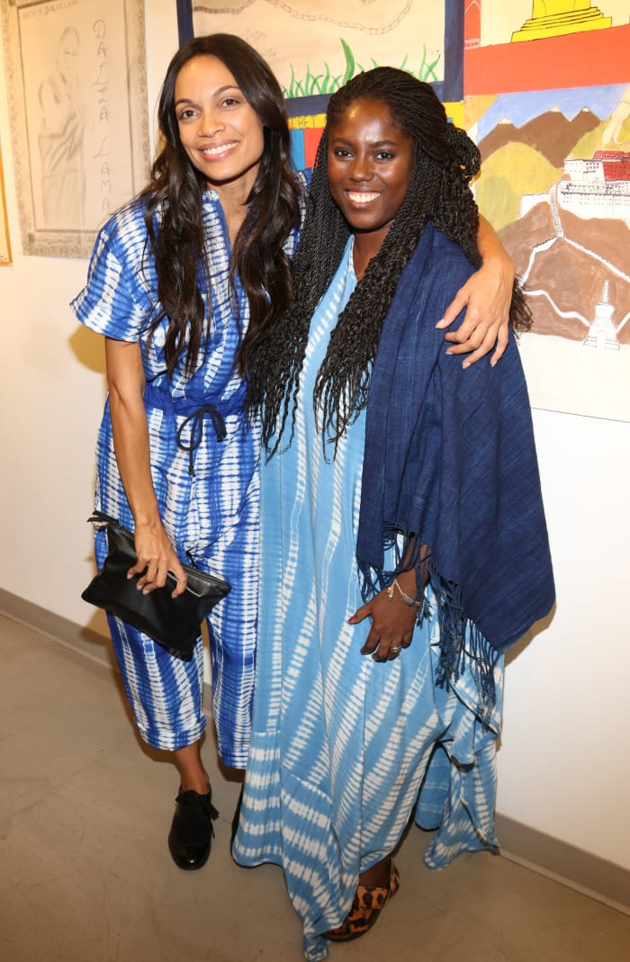 Rosario Dawson and Abrima Erwiah at Studio 189's Spring 2016 presentation during New York Fashion Week.