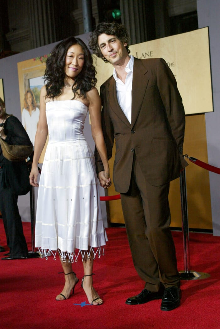 """Sandra Oh and Alexander Payne at the film premiere of """"Under The Tuscan Sun"""" in 2003."""