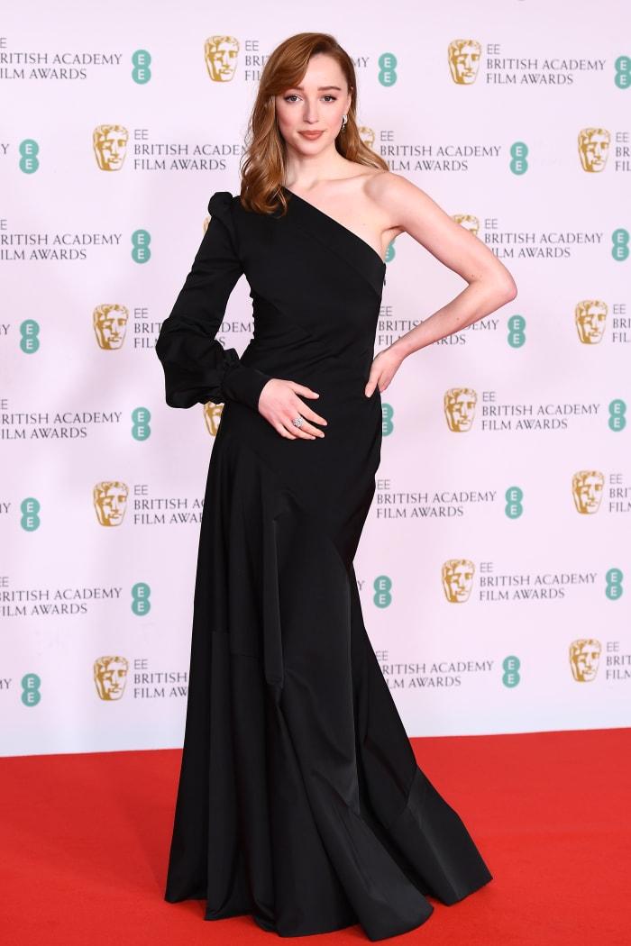 Phoebe Dynevor attends the EE British Academy Film Awards 2021