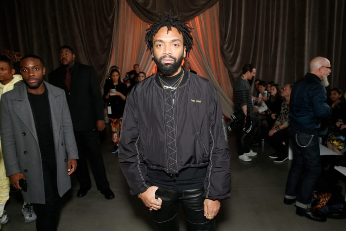 Kerby Jean-Raymond attends the Christopher John Rogers front row during New York Fashion Week