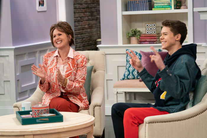 Pat Dubek (Molly Shannon) and his son and guest, ChaseDreams (Case Walker).