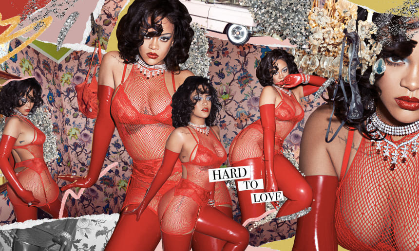 Rihanna for Savage x Fenty Valentine's Day collection.