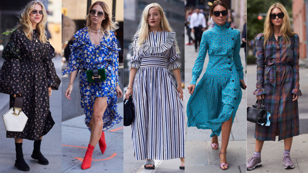 Pretty Printed Dresses Were Everywhere On Day 2 Of New