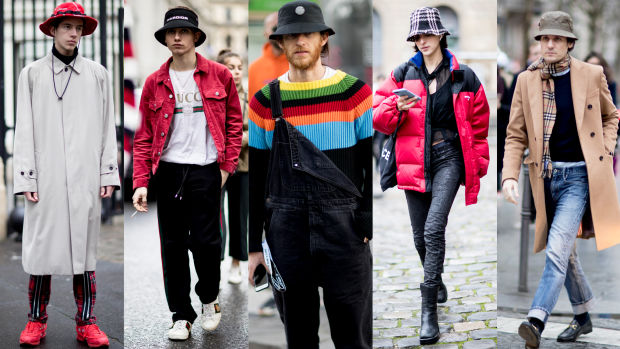 The Street Style Crowd at Paris Menu0026#39;s Fashion Week Brought Back the Bucket Hat - Fashionista