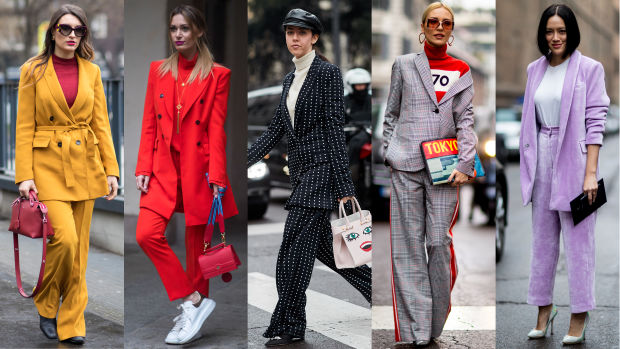 The street style crowd wore all sorts of suits on day 2 of for Fashion week milano 2018