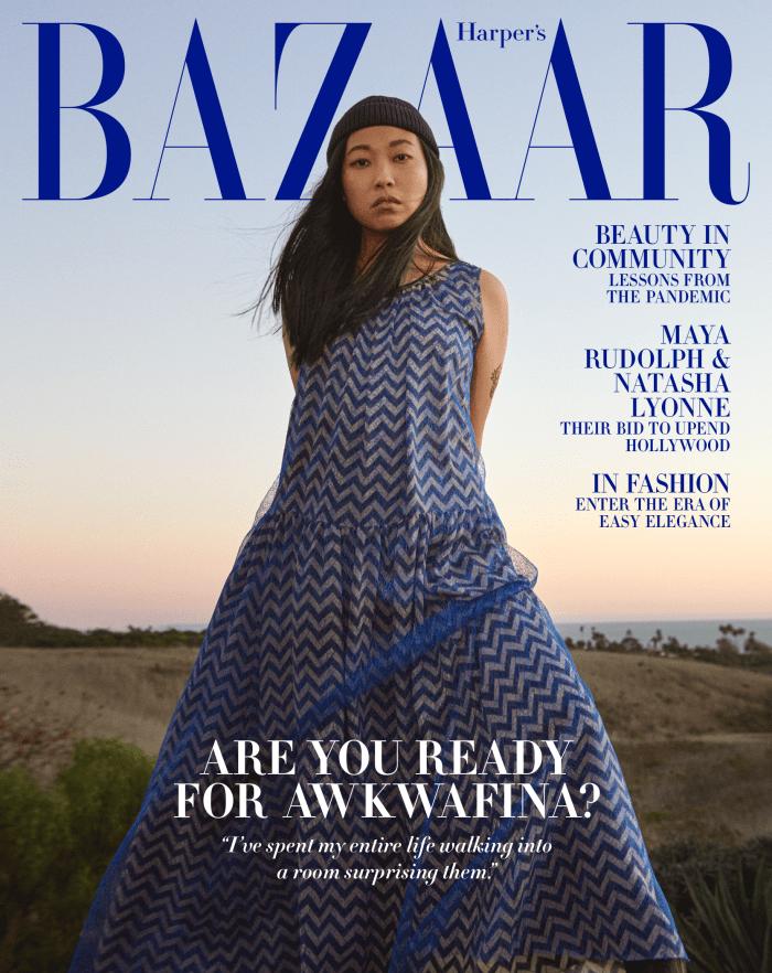 Awkwafina on 'Harper's Bazaar''s February cover.