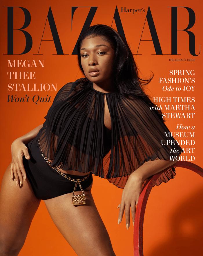 Megan Thee Stallion for Harper's Bazaar.
