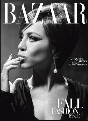 Jennifer Aniston as Streisand for Harper's Bazaar.