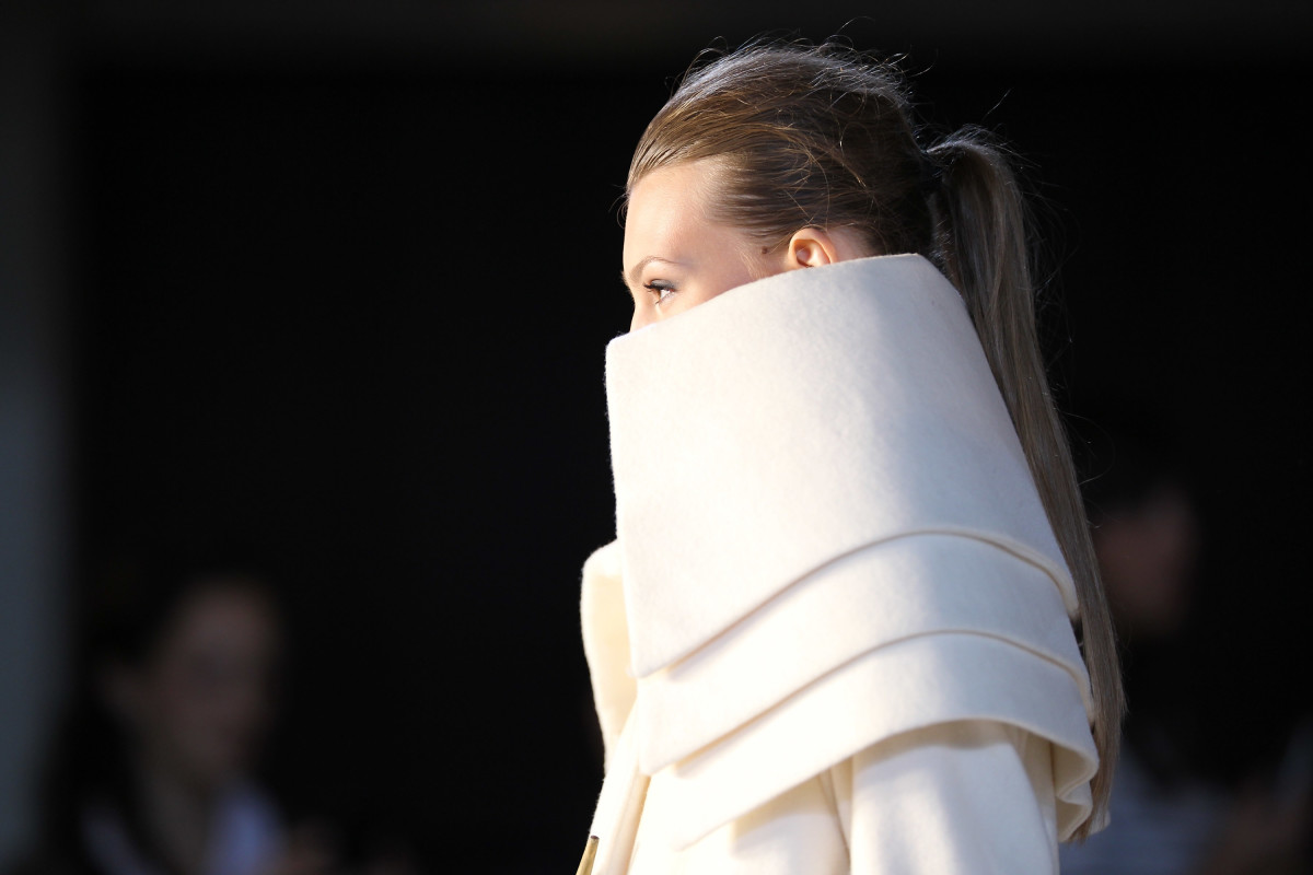 A look from a 2010 RISD runway show. Photo: Neilson Barnard for Getty Images Entertainment