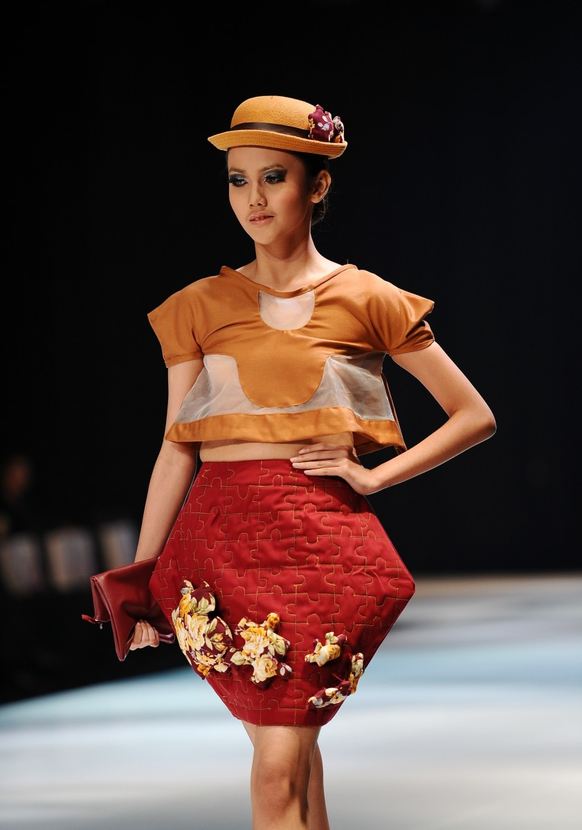 A look from a May 2014 fashion show at Lasalle's Surabaya, Indonesia campus. Photo: Robertus Pudyanto for Getty Images Entertainment