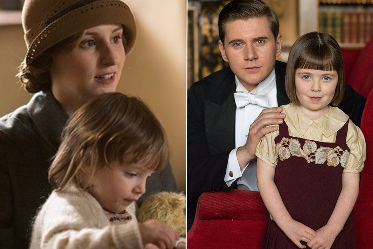 Two Downton daughters, two very different bobs. Photos: ITV
