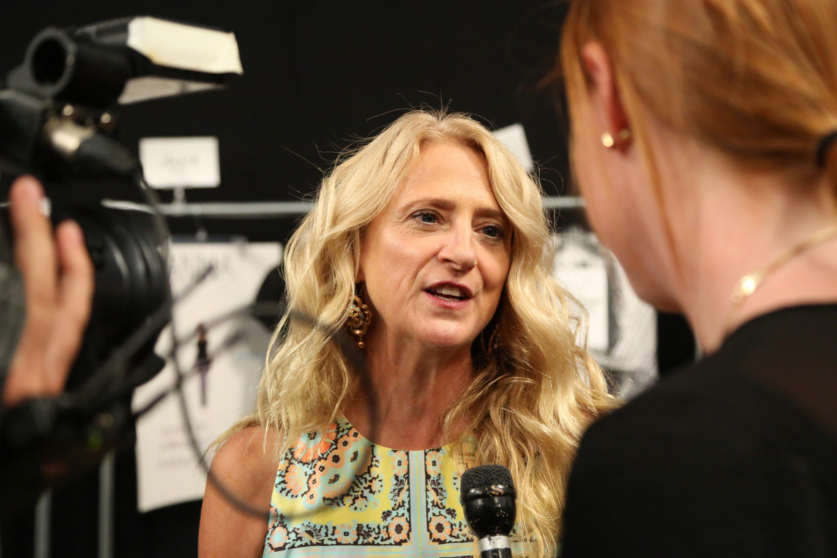 Nanette Lepore backstage at New York Fashion Week in September 2014. Photo: Monica Schipper/Getty Images