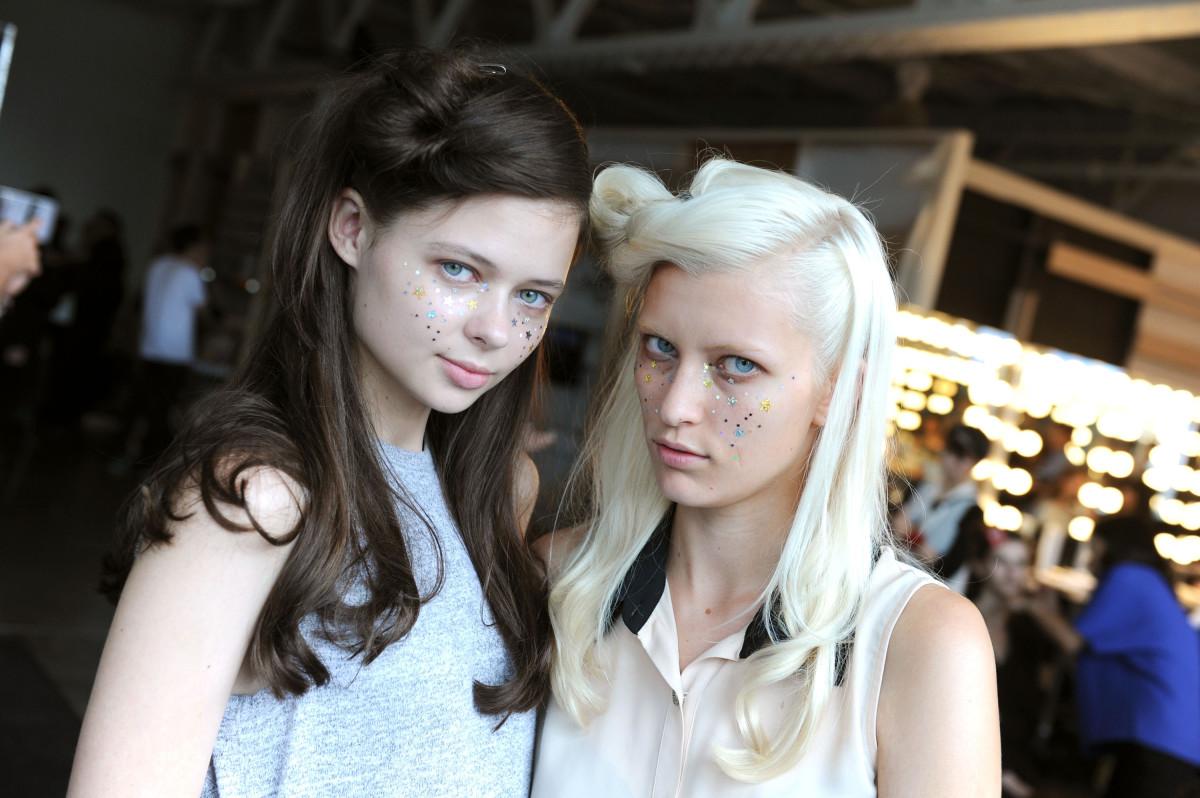 Models backstage at A Détacher's spring show. Photo: Craig Barritt/Getty Images