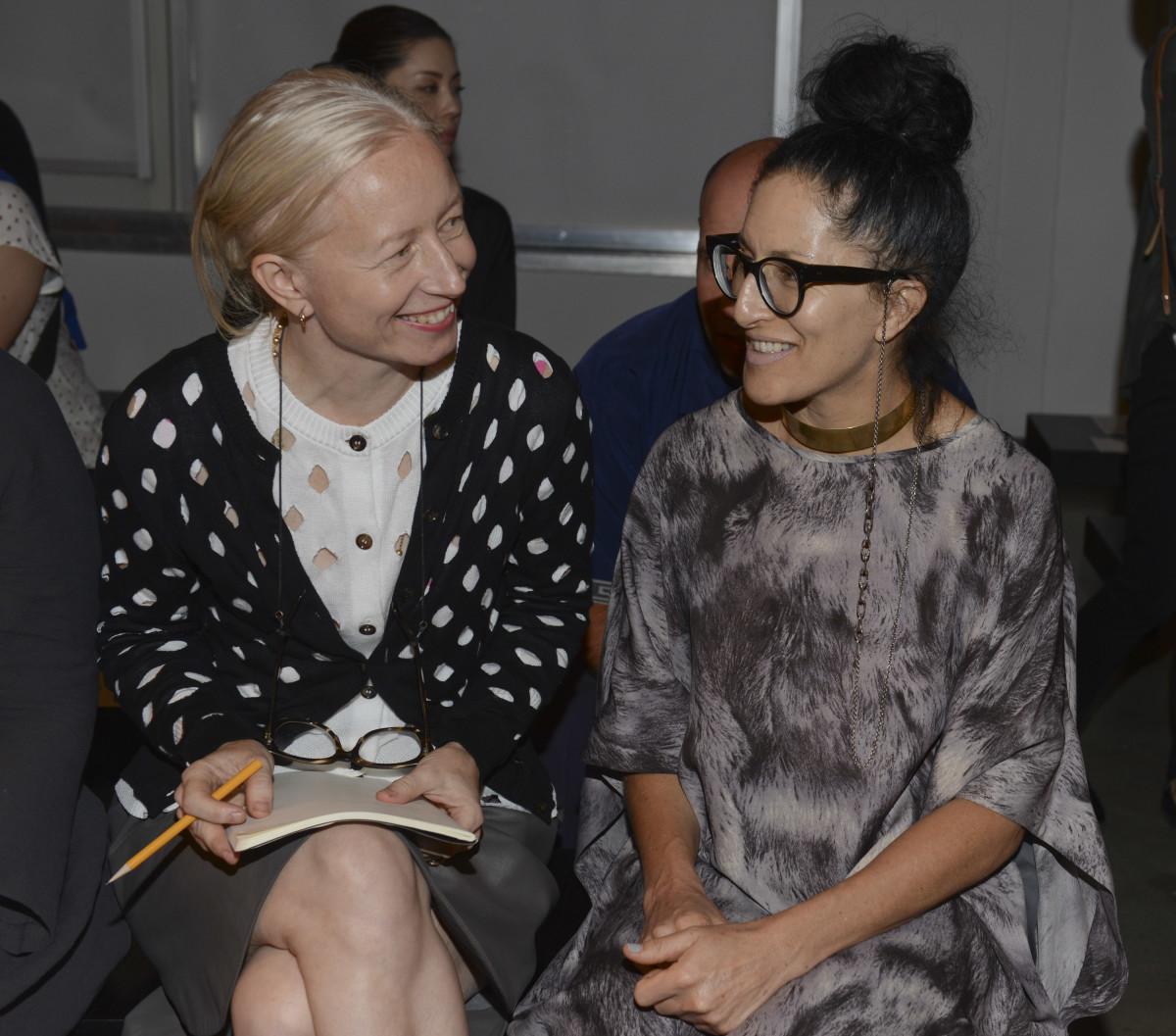 Kowalska with stylist Haidee Findlay-Levin. Photo: Vivien Killilea/Getty Images