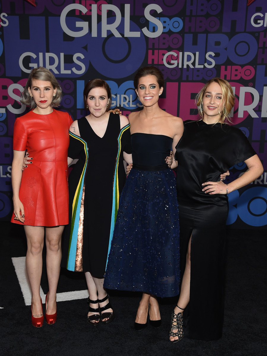 Zosia Mamet, Lena Dunham, Allison Williams and Jemima Kirke. Photo: Jamie McCarthy/Getty Images