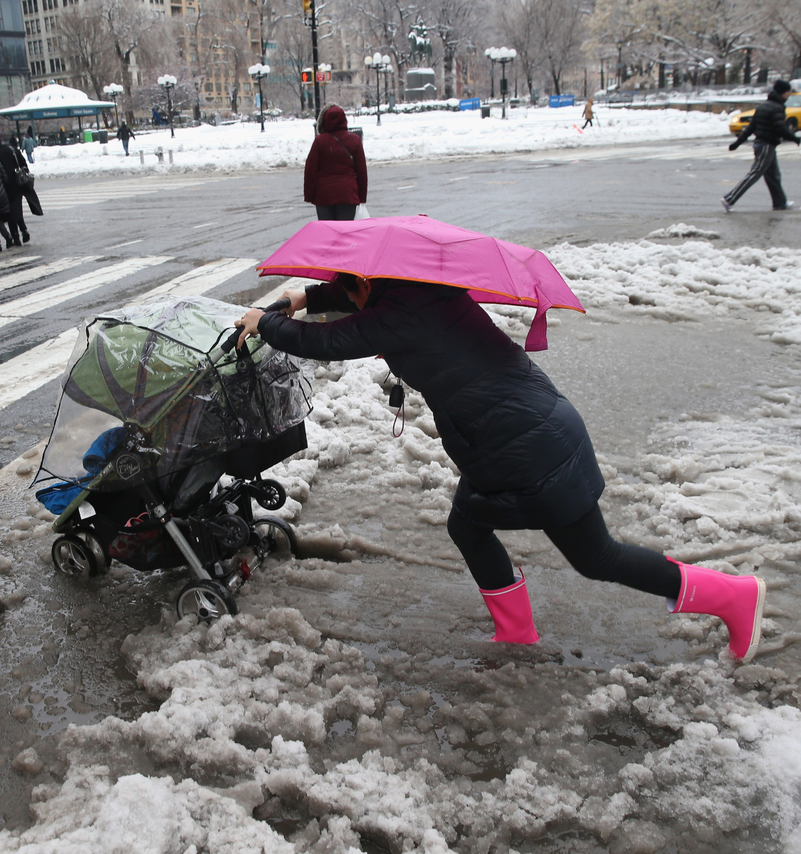Last year's polar vortex in New York City. Photo: John Moore/Getty Images