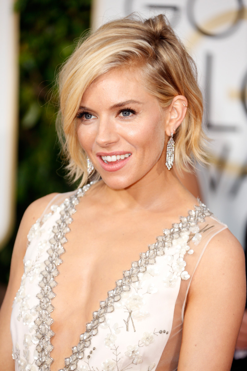 Arguably the best hair of the night, via Sienna Miller. Photo: Jeff Vespa/Getty Images