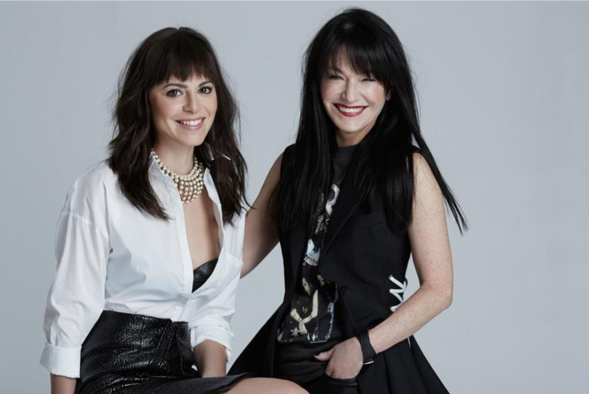 #GirlBangs. Sophia Amoruso, left and Sheree Waterson, right. Photo: Courtesy Nasty Gal