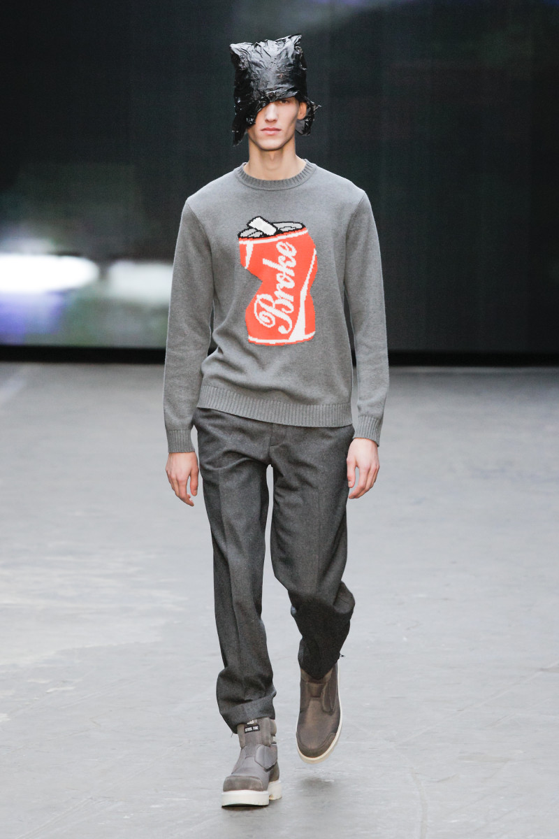 Purposely trashy at London Collections: Men. Photo: Christopher Shannon