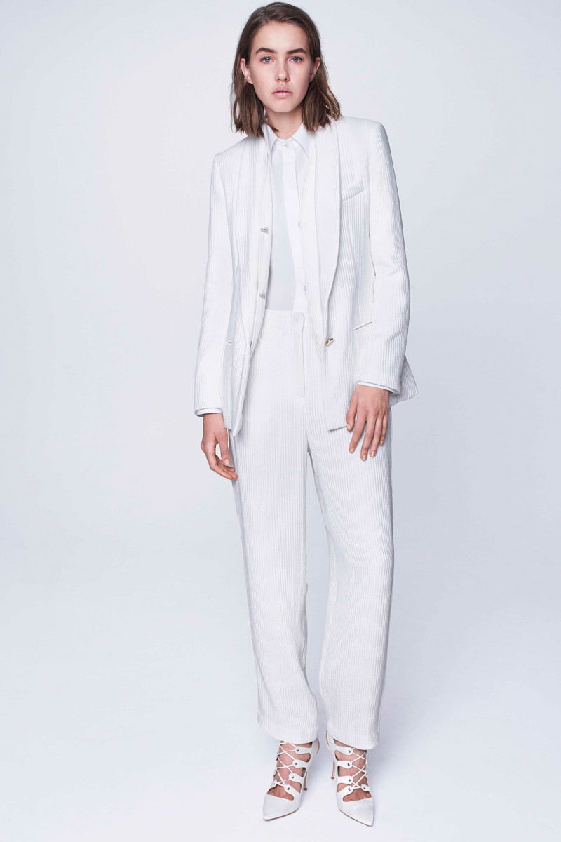 An all-white look from the Adam Lippes pre-fall 2015 collection. Photo: Adam Lippes