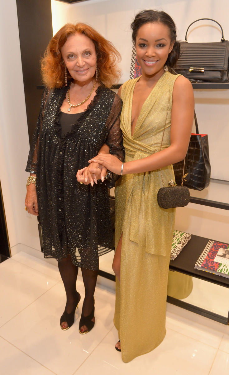Diane von Furstenberg and season one winner Brittany Hampton. Photo: Charley Gallay/Getty Images