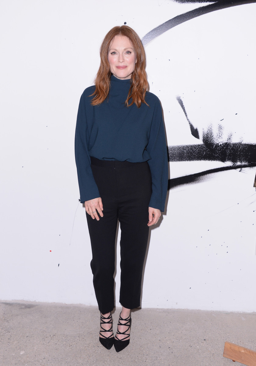 Julianne Moore in Balenciaga. Photo: Stephen Lovekin/Getty Images
