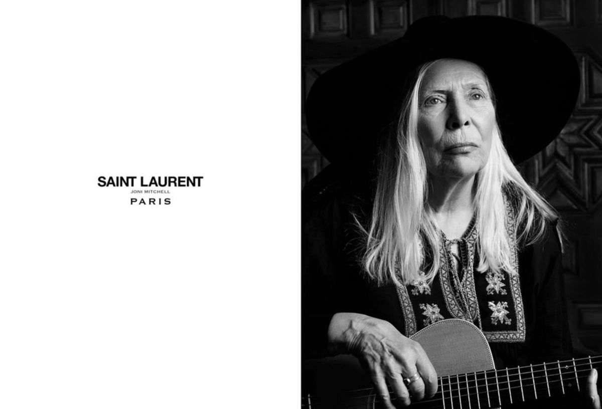 Joni Mitchell for Saint Laurent. Photo: Saint Laurent