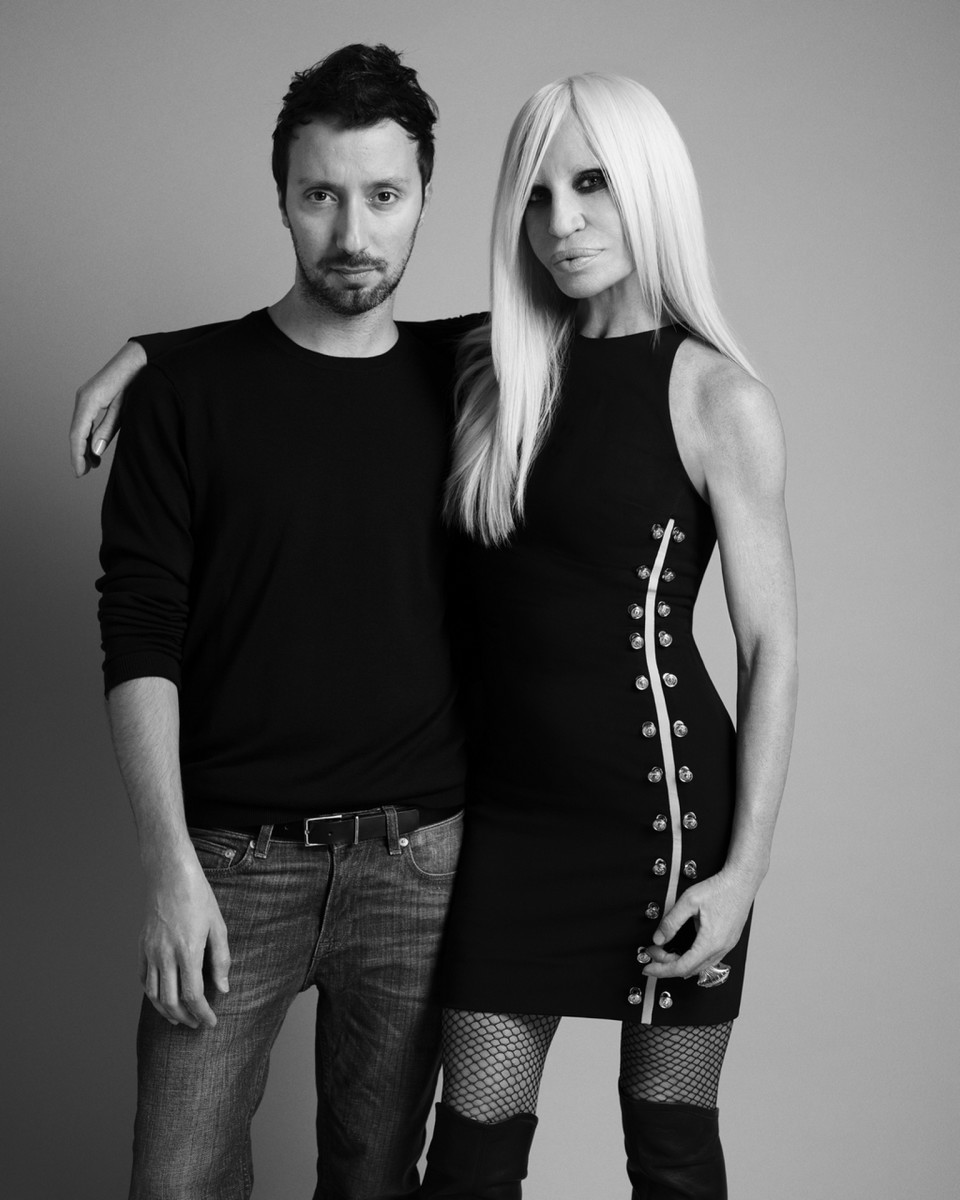 Anthony Vaccarello and Donatella Versace. Photo: Versace