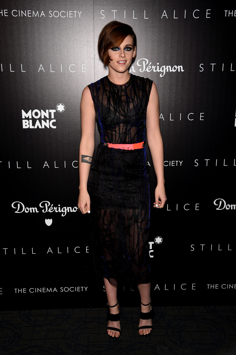"Kristen Stewart wears Roksanda at a Cinema Society screening of' ""Still Alice"" on Jan. 13 in New York City. Photo: Dimitrios Kambouris/Getty Images"
