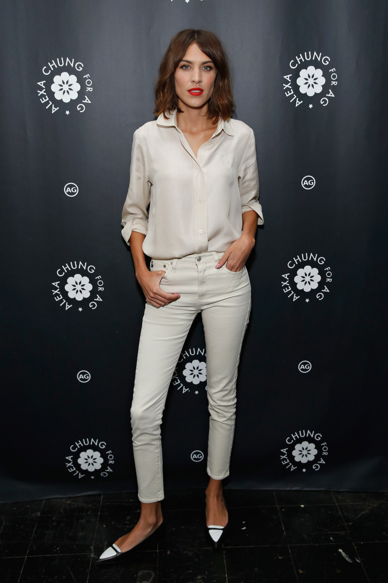 Alexa Chung in Alexa Chung x AG. Photo: Cindy Ord/Getty Images