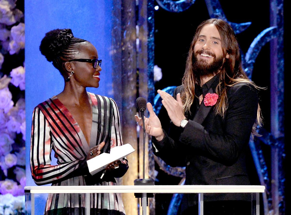 """Jared, your hair looks so fantastic!"" ""No, Lupita, YOURS does!""  *golf claps* Photo: Kevork Djansezian/Getty Images"