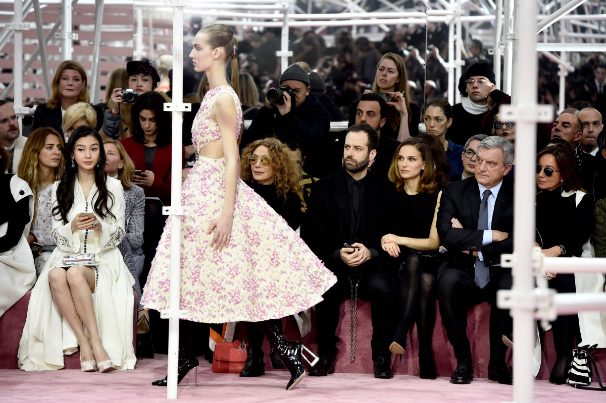 The scene at Dior on Monday. Photo: Pascal Le Segretain/Getty Images