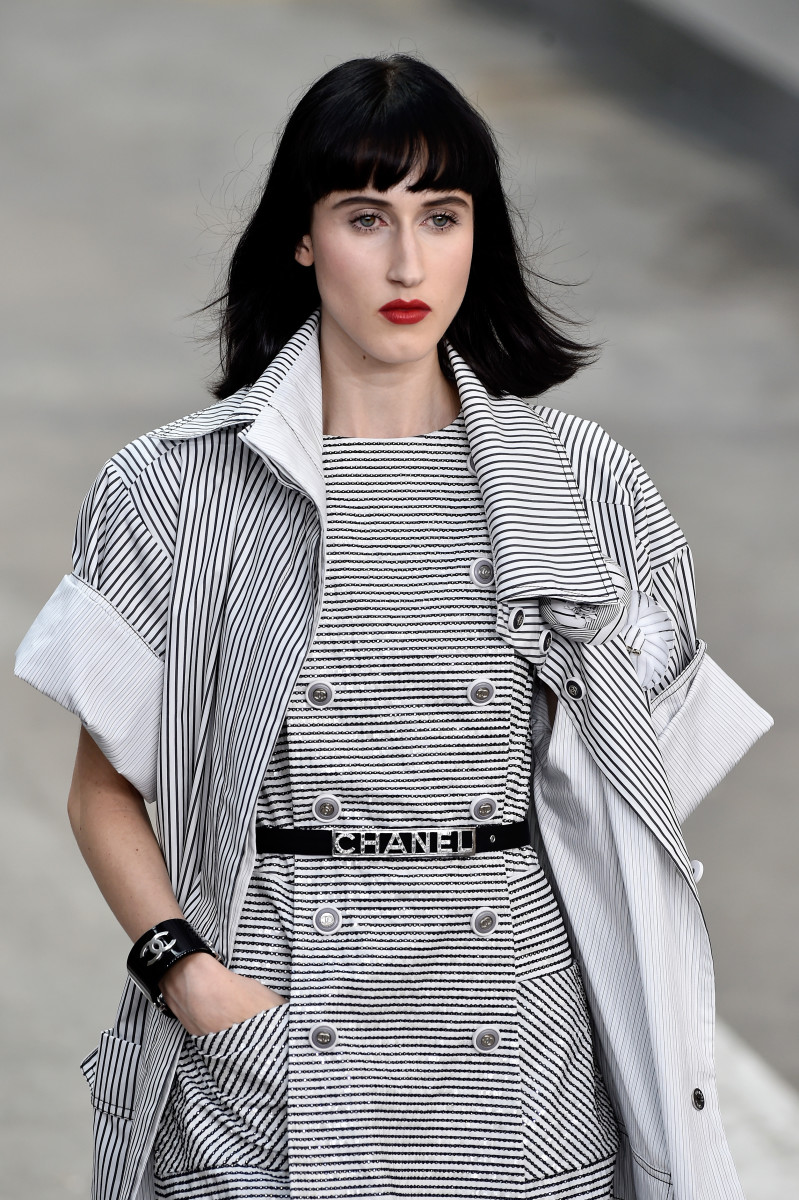 A model at Chanel's spring 2015 show. Photo: Pascal le Segretain/Getty Images