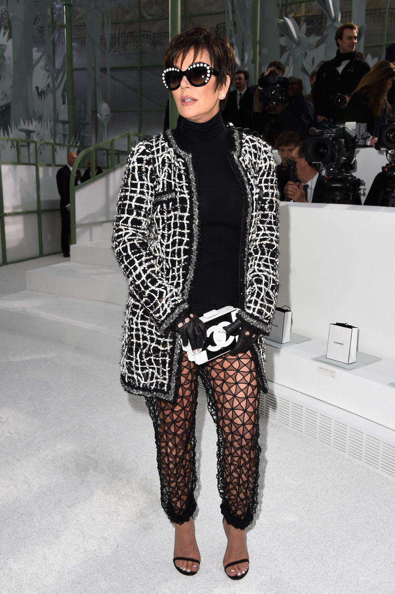 Kris Jenner at the Chanel haut couture spring 2015 show. Photo: Pascal Le Segretain/Getty Images
