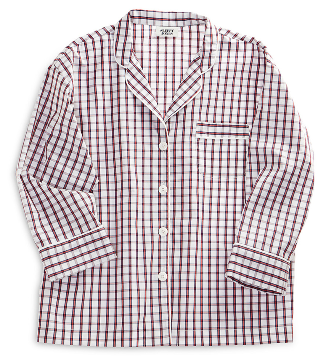 Trade in your booger-stained sweats for some upscale PJs. Marina Pajama Shirt, $68.60 with code SNOWDAY30 (from $168), available at Sleepy Jones.