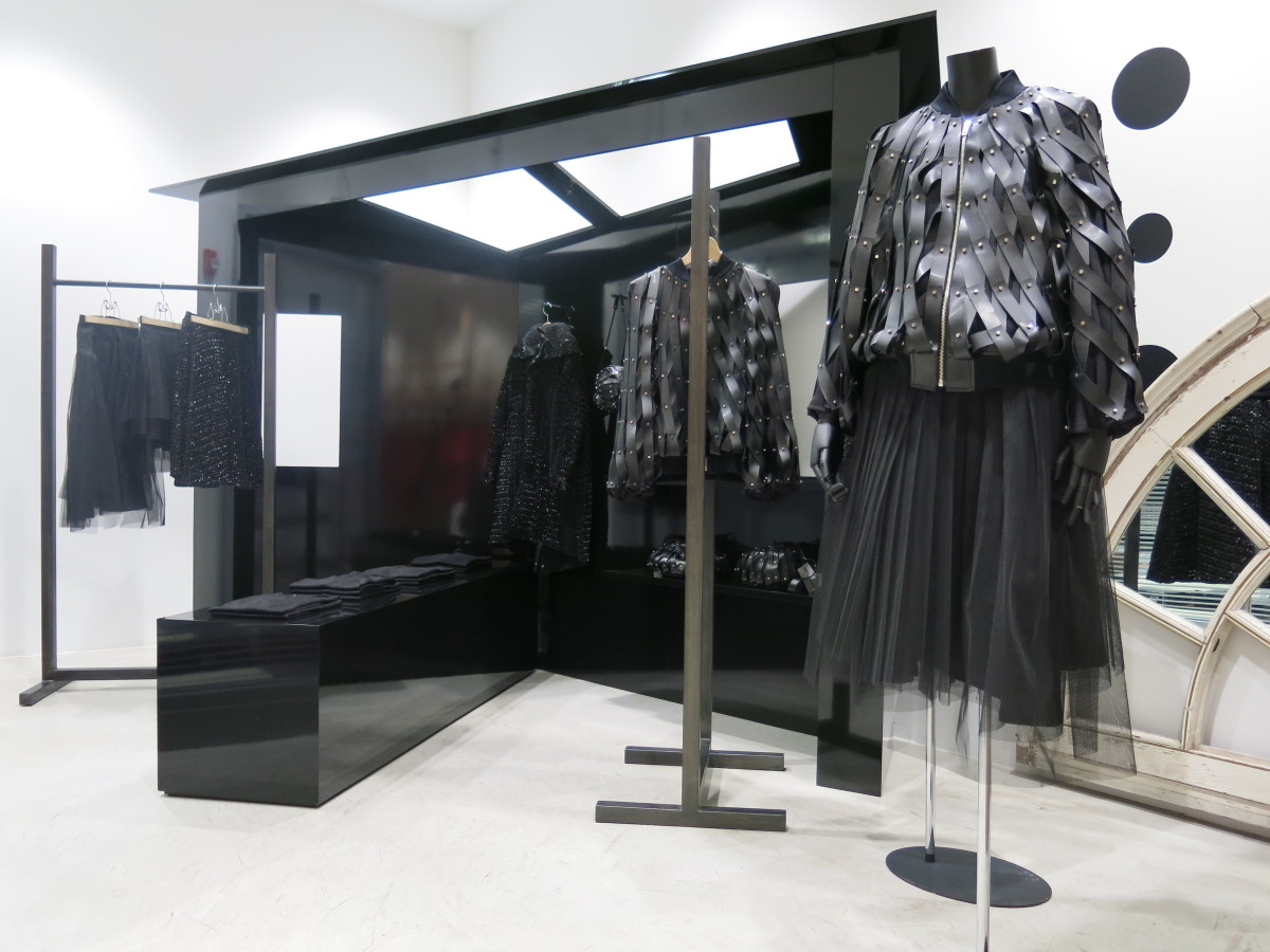 Noir Kei Ninomiya's installation at Dover Street Market New York. Photo: Dover Street Market New York