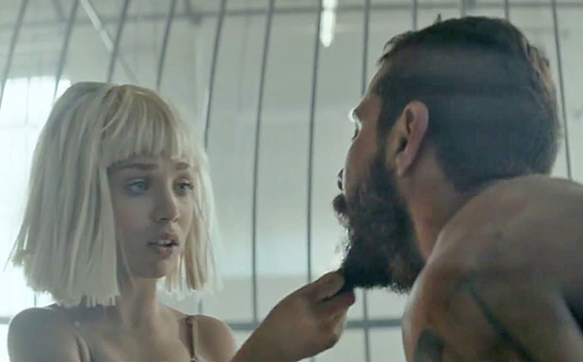 "Screengrab (and beard grab): ""Elastic Hearts"" video"
