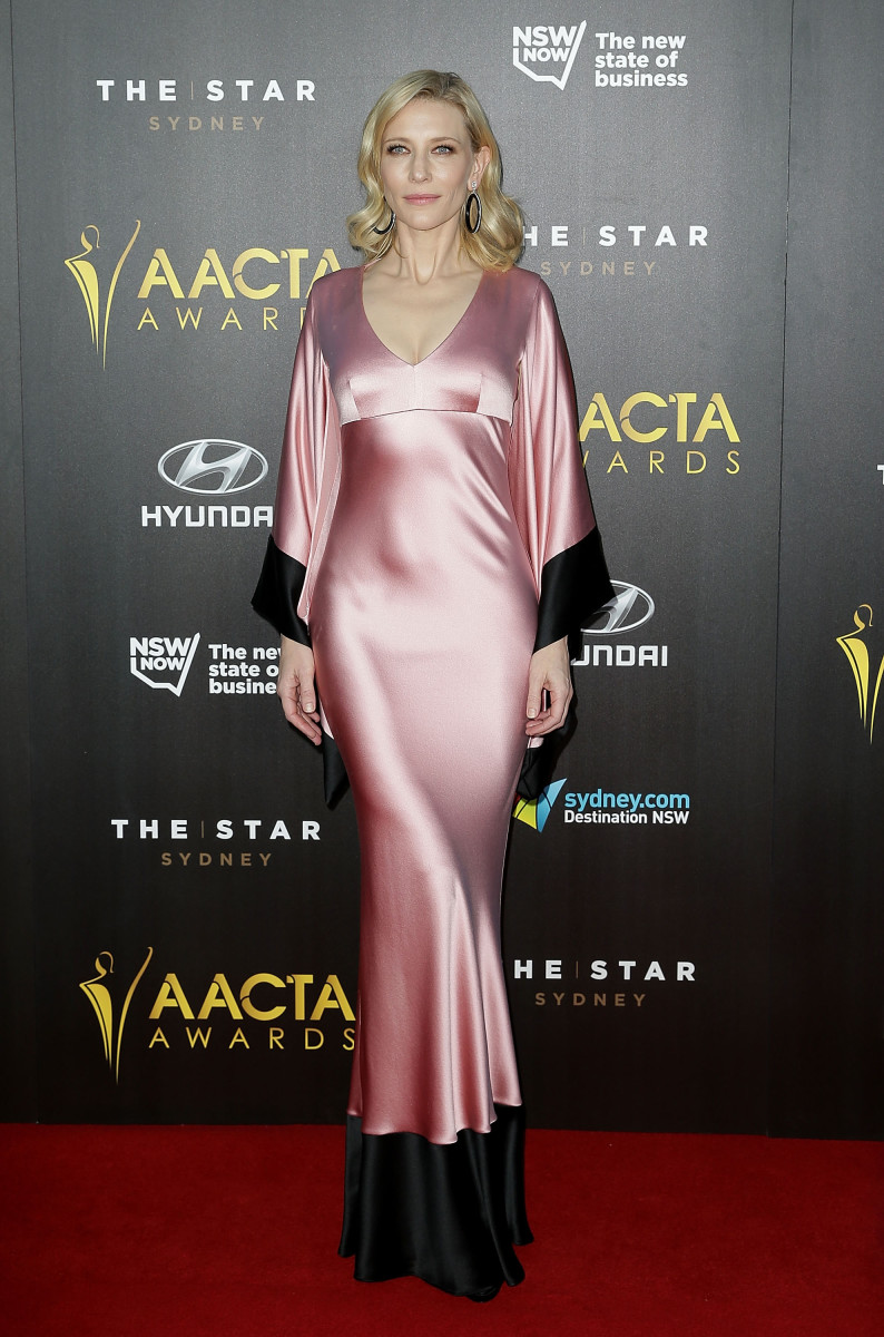 Cate Blanchett in Alexander McQueen at the AACTA Awards. Photo: Mark Metcalfe/Getty Images