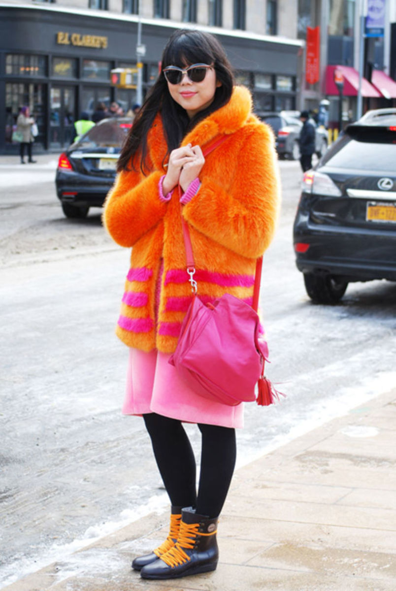 Susie Lau (aka Susie Bubble) at New York Fashion Week last February. Photo: Ashley Jahncke