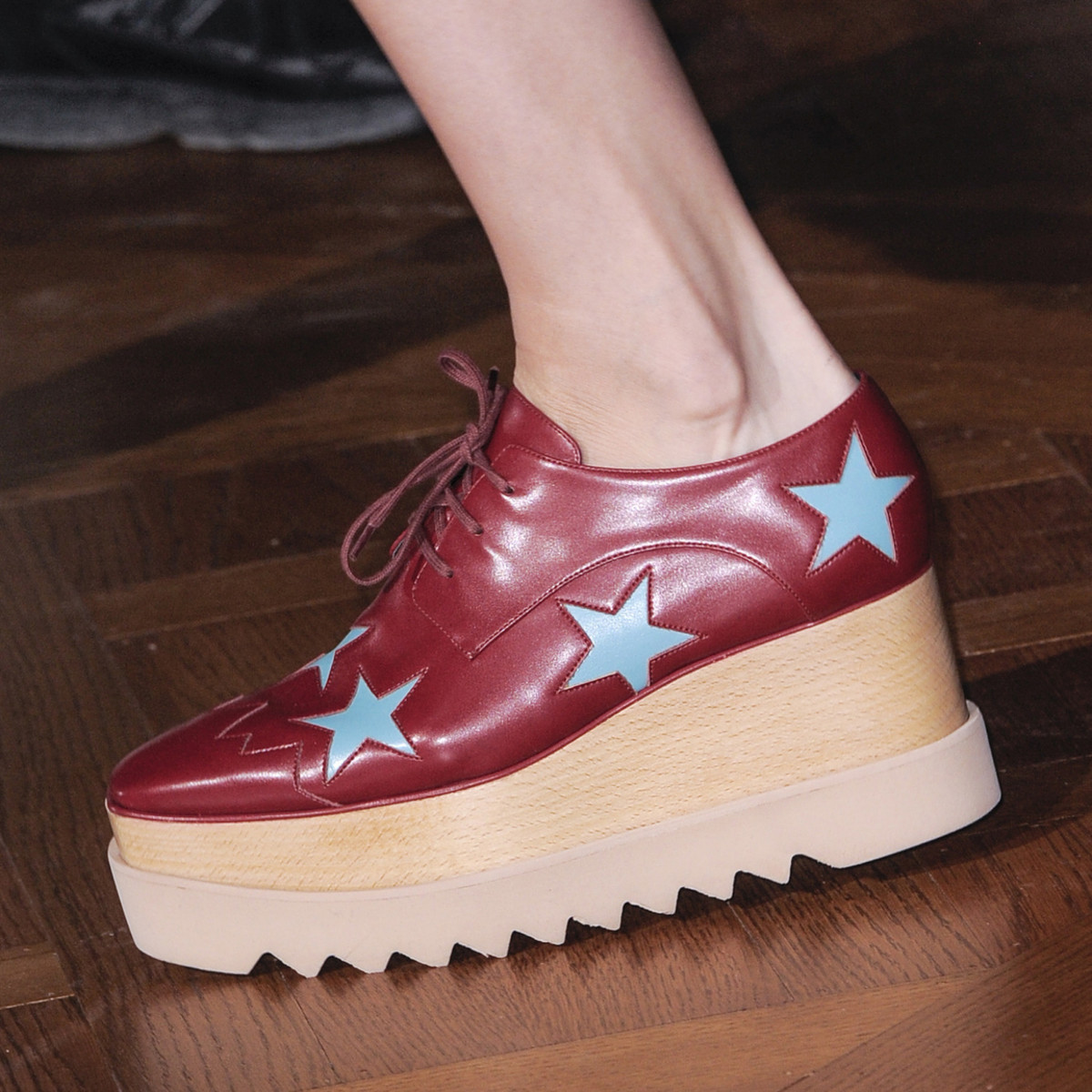 Stella McCartney flatforms from the fall 2014 show. Photo: Imaxtree.