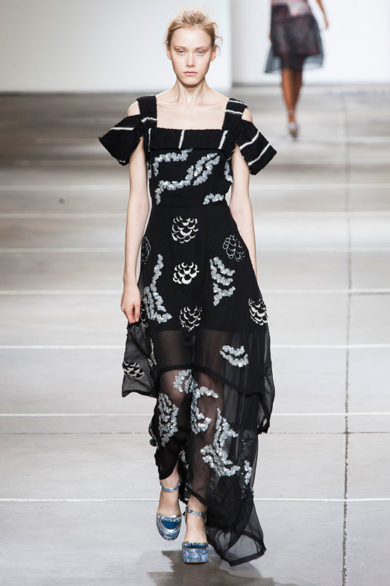 A look from Michael van der Ham's spring 2015 show. Photo: Imaxtree