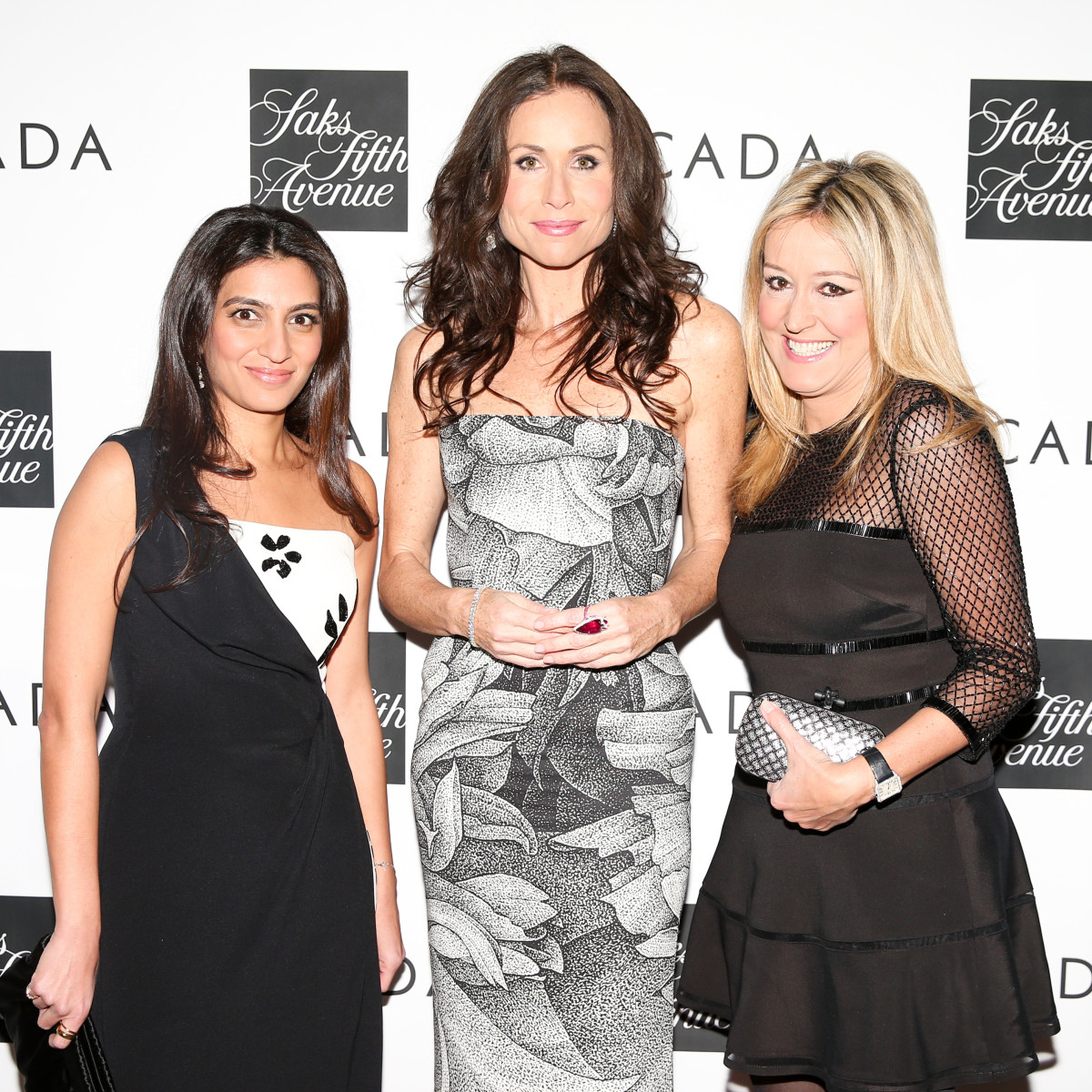 Escada chairman Megha Mittal, Minnie Driver and Saks Fifth Avenue president Marigay McKee. Photo: Courtesy of Billy Farrell Agency