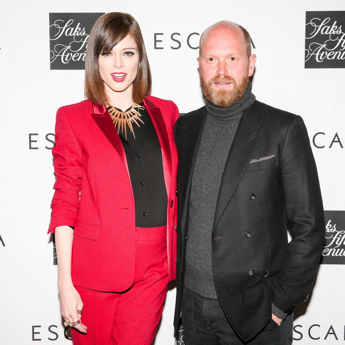 Model Coco Rocha and Escada Fashion Director Daniel Wingate. Photo: Courtesy of Billy Farrell Agency
