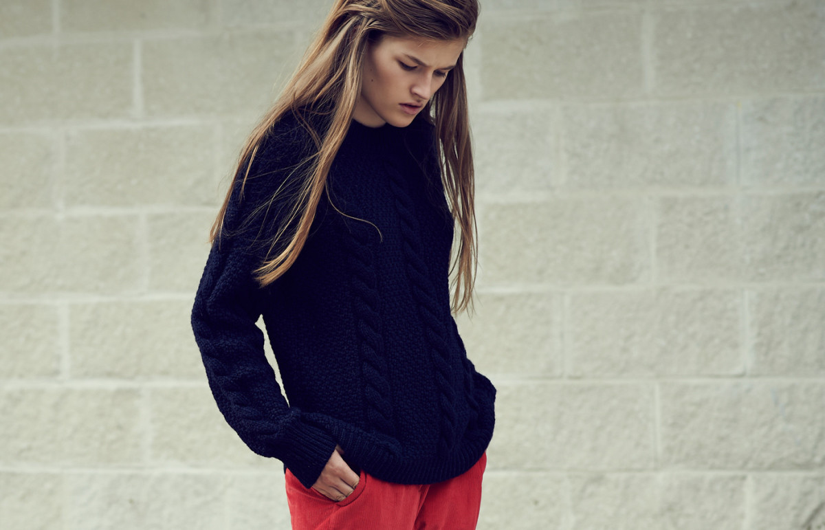 A look from knitwear label &Daughter. Photo: &Daughter