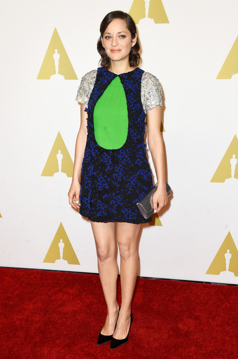 Marion Cotillard in Dior. Photo: Frazer Harrison/Getty Images
