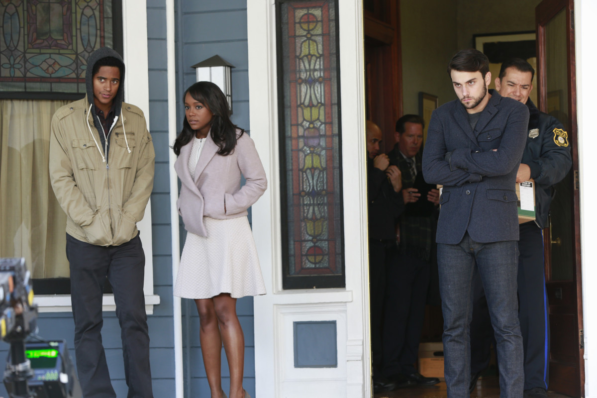Wes sans scarf, Princess Michaela and Connor, who wishes he wore a scarf. Photo: ABC/Mitch Haaseth