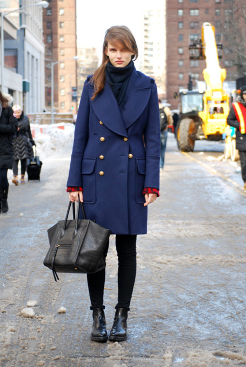 Model Giedre Dukauskaite at New York Fashion Week last February. Photo: Ashley Jahncke/Fashionista