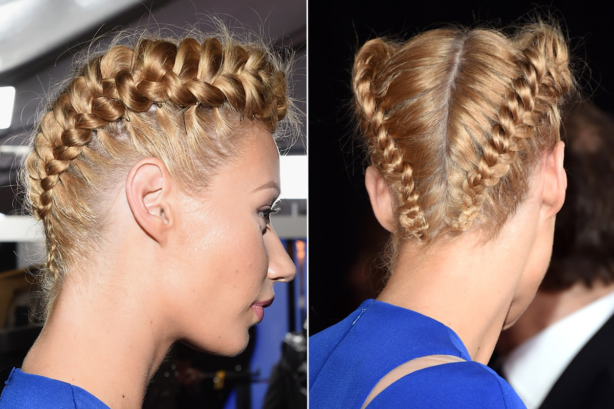 The braid from all angles. Photos: Jason Merritt/Getty Images